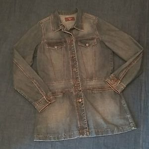 Vtg style S-MARQUE long denim coat